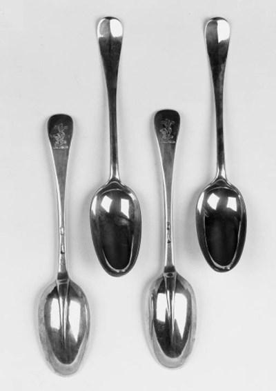 A set of four George I Britann