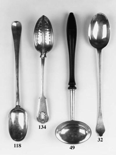 A George II punch ladle,