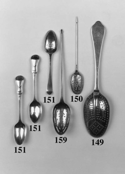 A George II mote spoon,