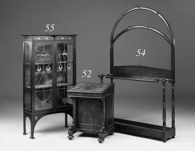 An Art Nouveau mahogany displa