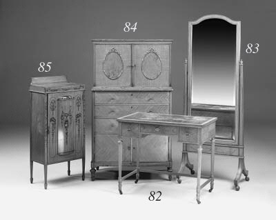 A satinwood writing table, ear