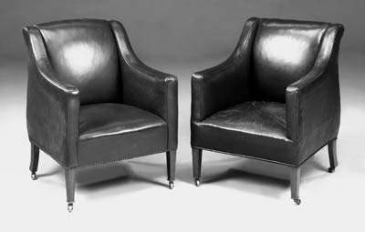 A pair of Howard armchairs