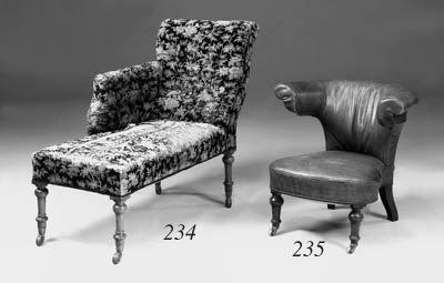 A Victorian chaise longue