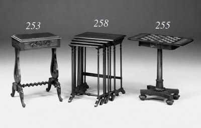 A late Regency rosewood games