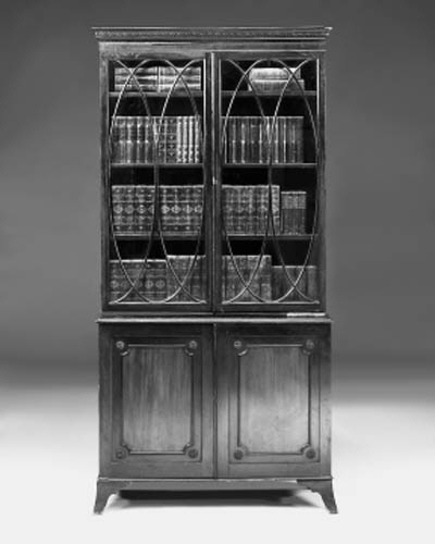 A mahogany bookcase, 19th cent