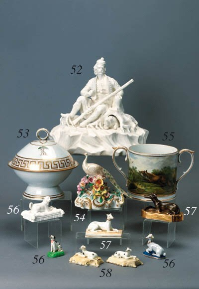 An English porcelain two-handl