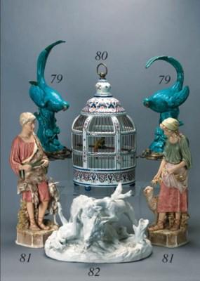 A Delft polychrome bird-cage