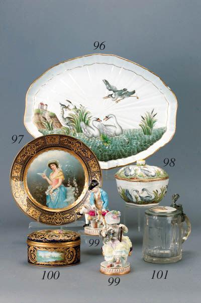 A Herend quatrefoil sugar bowl