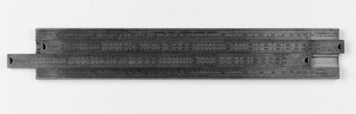 A boxwood slide-rule by Stanle