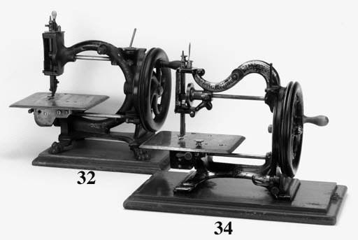 An Agenoria lockstitch sewing