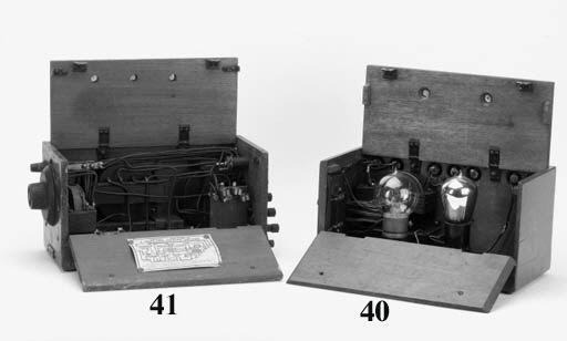 A Gecophone two-valve amplifie
