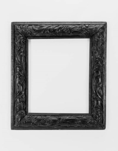 An Italian carved frame, parts