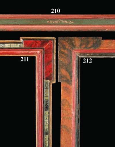 A Spanish painted moulding fra