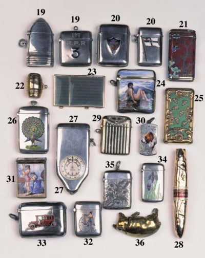 A brass vesta case