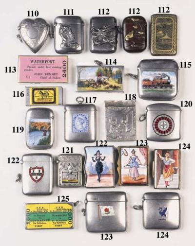 Six various silver vesta cases