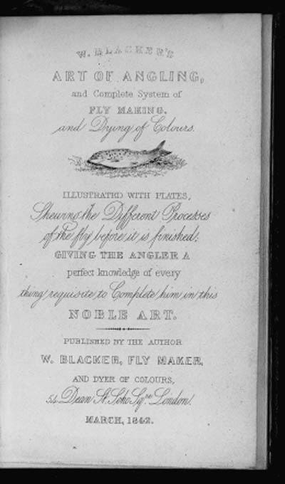 BLACKER, William. Art of Angli