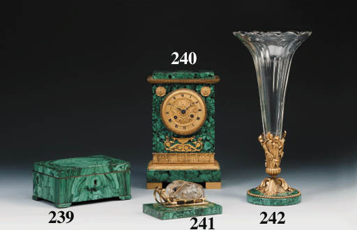 An ormolu-mounted malachite an