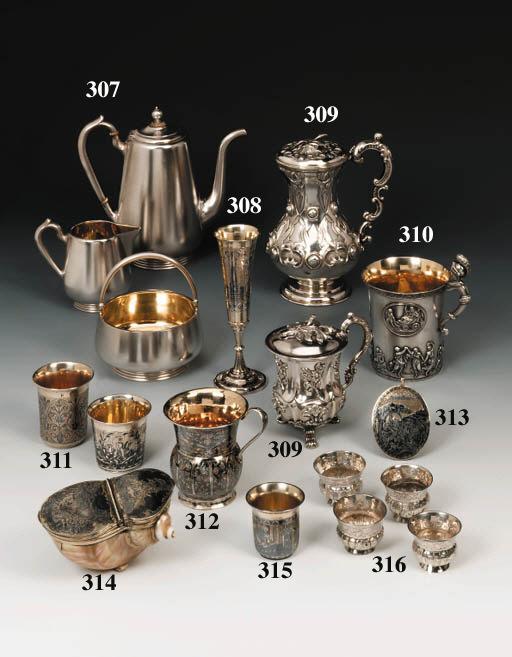 A silver-gilt and niello Riumk