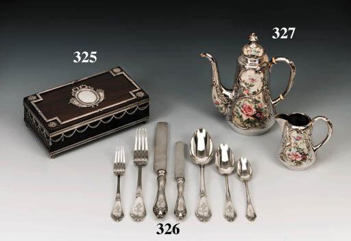 A silver and en-plein enamel C