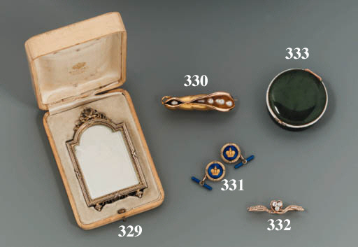 A silver-gilt miniature Frame