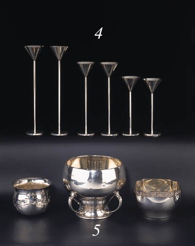 An English silver cup, a Greek