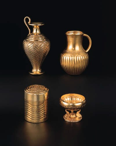 A group of Greek silver-gilt h