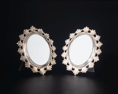 A pair of Italian silver frame