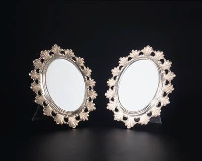 A pair of Italian silver frame