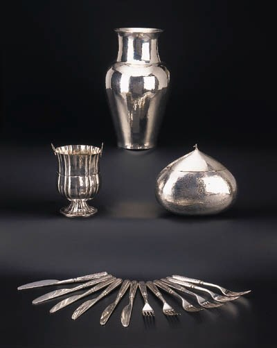 A group of Italian silver item