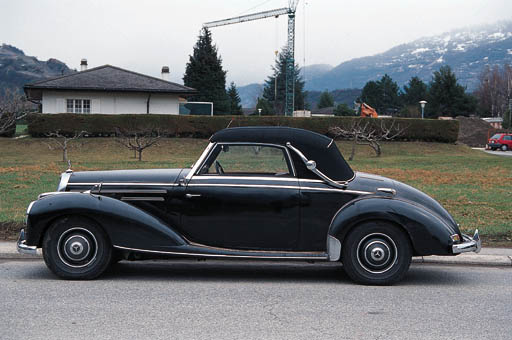 1952 MERCEDES-BENZ 220A CABRIOLET German Registered  Chassis