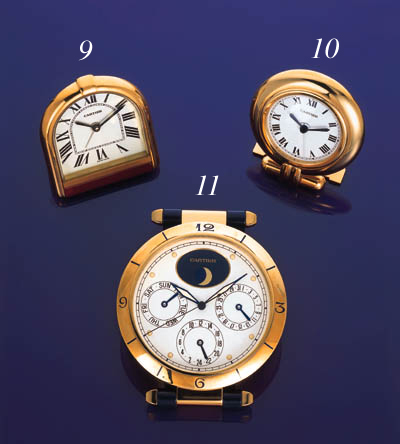 Cartier. A silver gilt and lac