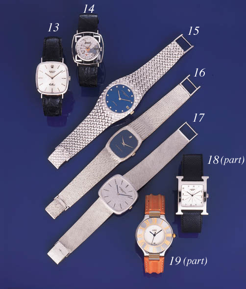 Cartier. A lot of one silver a