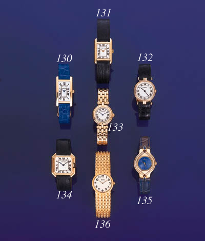 Cartier. A lady's 18K three co