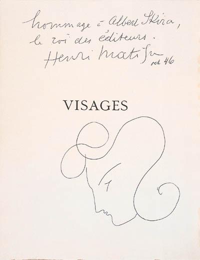 MATISSE, Henri. Visages. Quato
