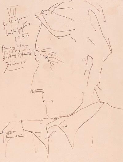 PICASSO, Pablo. Portrait d'Alb