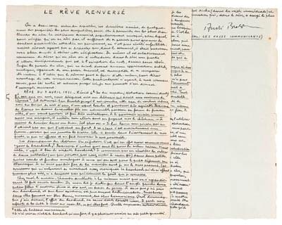 BRETON, Andr. Manuscrit autogr