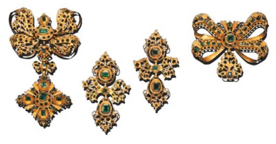 A SUITE OF SPANISH EMERALD JEW