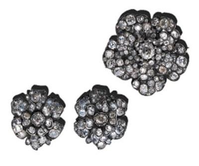 A SUITE OF DIAMOND CAMELIA JEW