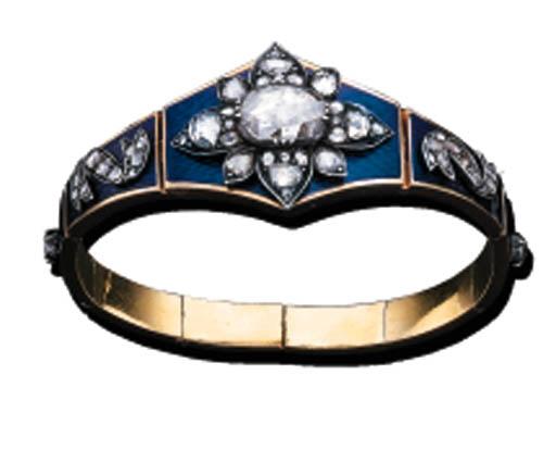 A RUSSIAN DIAMOND AND ENAMEL B