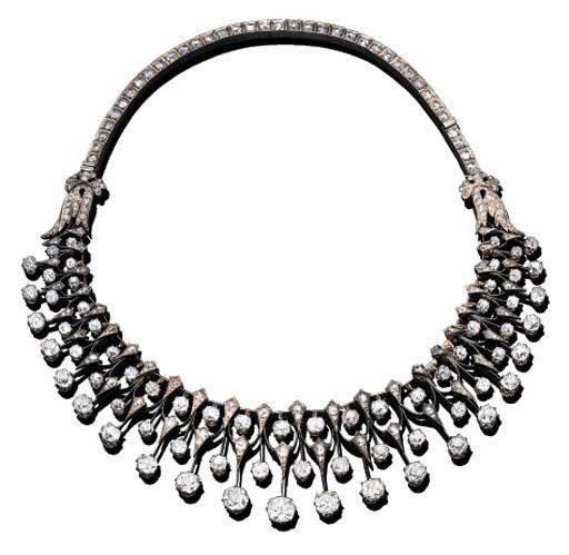 A DIAMOND FRINGE NECKLACE, BY