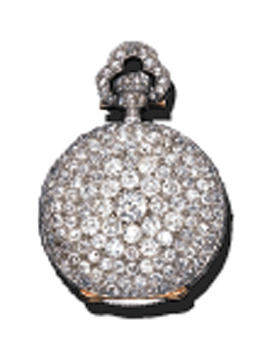 A DIAMOND POCKET WATCH, BY PAT