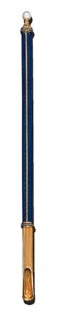 AN ENAMEL PLUME HOLDER, BY FAB