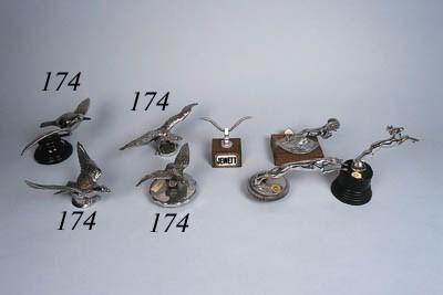 Four avian mascots including C