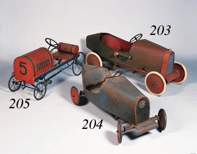 An early child's pedal car; wo
