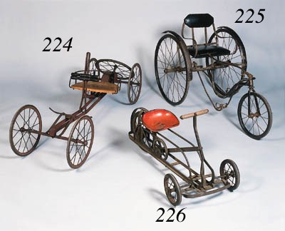 An early child's tricycle with