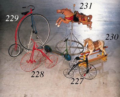 An early carousel horse; carve