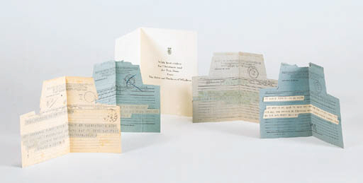 FOUR TELEGRAMS TO ELSIE DE WOL