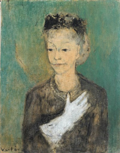 'LADY MENDL', AN OIL ON CANVAS