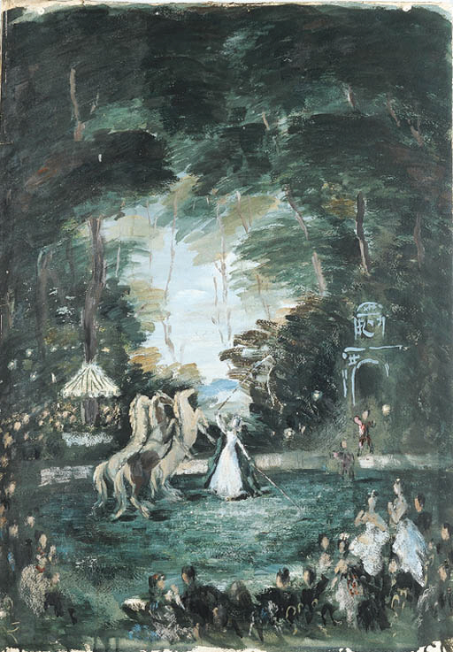 'THE CIRCUS BALL', AN OIL AND
