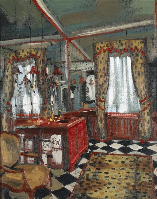 'LEOPARD PRINT BATHROOM', AN O
